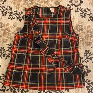 Holiday Plaid Shell by J. Crew, Size 10